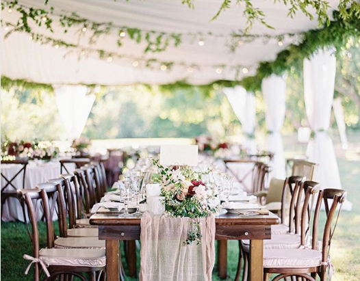 Decorating A Wedding Tent