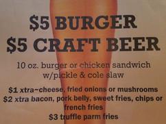 specials burger