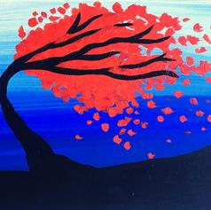 TREE, ORANGE LEAVES