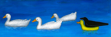 What the Duck. Acrylic on canvas. Private collection.