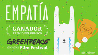 ¡Empatía gana el GreenPeace Film Festival!