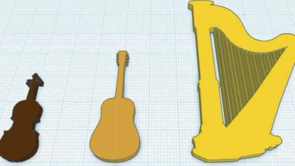 Impressão 3D atinge um acorde na educação musical pré-escolar