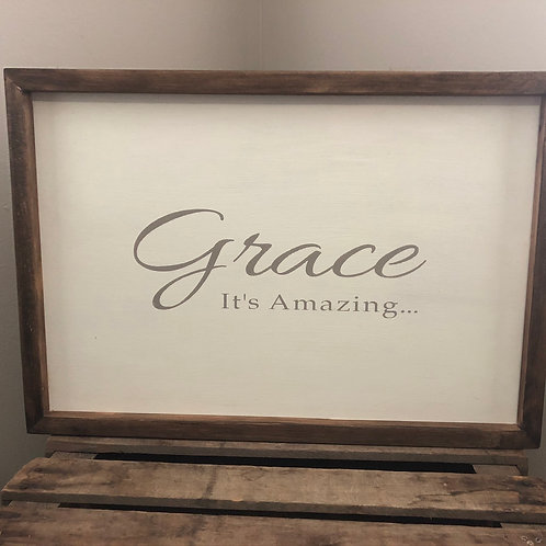 Frame color is Dark Walnut; Lettering is Light Gray