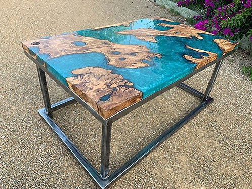 "Table Basse ""Continents"""
