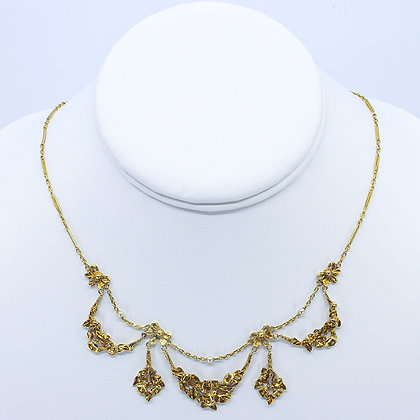 French Floral Festoon Necklace
