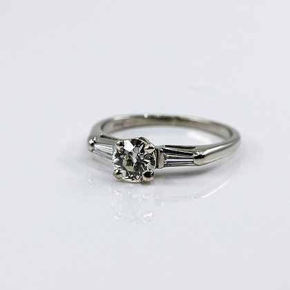 Diamond Engagement Ring with Baguettes