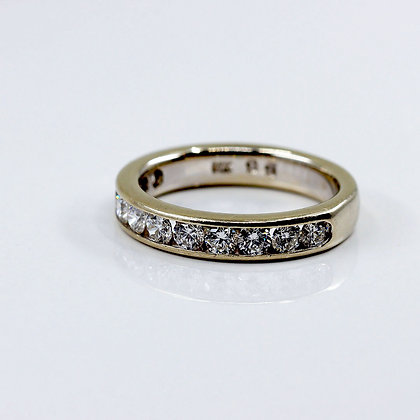 White Gold Diamond Band Ring