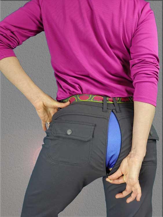 Damzelfly Outsider Women's Pants with a secret.