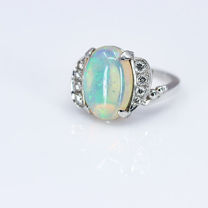 Vintage Opal Cabochon Ring