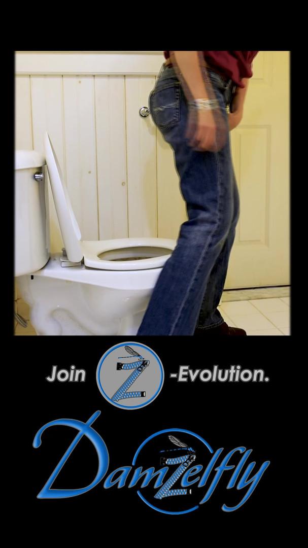 Damzelfly jeans in the bathroom