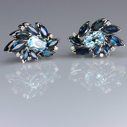 Aquamarine Topaz Earrings