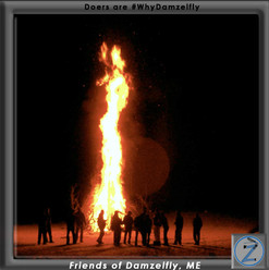 """This one goes out to the two survey respondents that wanted Damzelfly for """"Burnin' Shit"""" & """"Campfire Parties""""…yeah, we know how to do that. Take the one question survey, we are listening.  Spread the word so we can help more women do things and pee.  Be a part of it.  Join the Z-Evolution."""