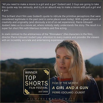 Winner Top Shorts Film Festival A Girl And A Gun
