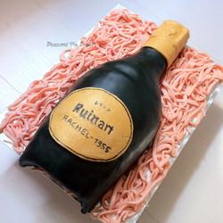 Gâteau 3D bouteille de champagne