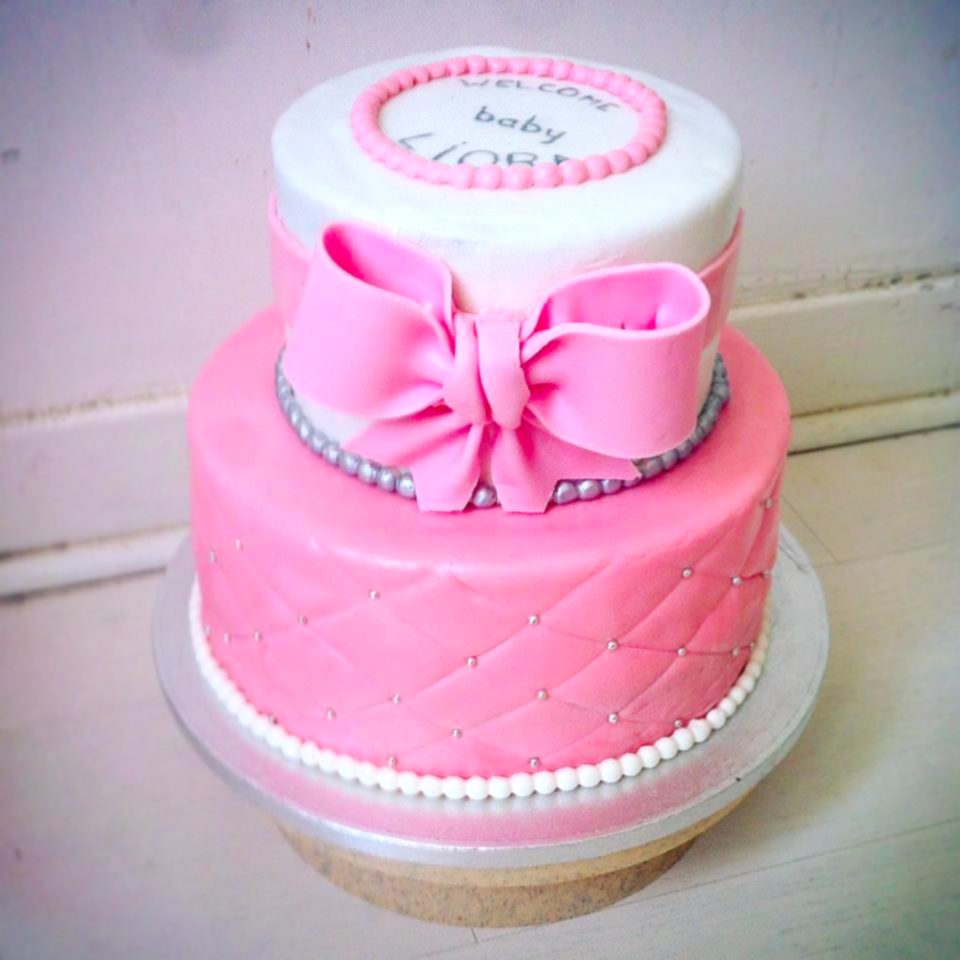 Baby shower 2 tiers 3D cake