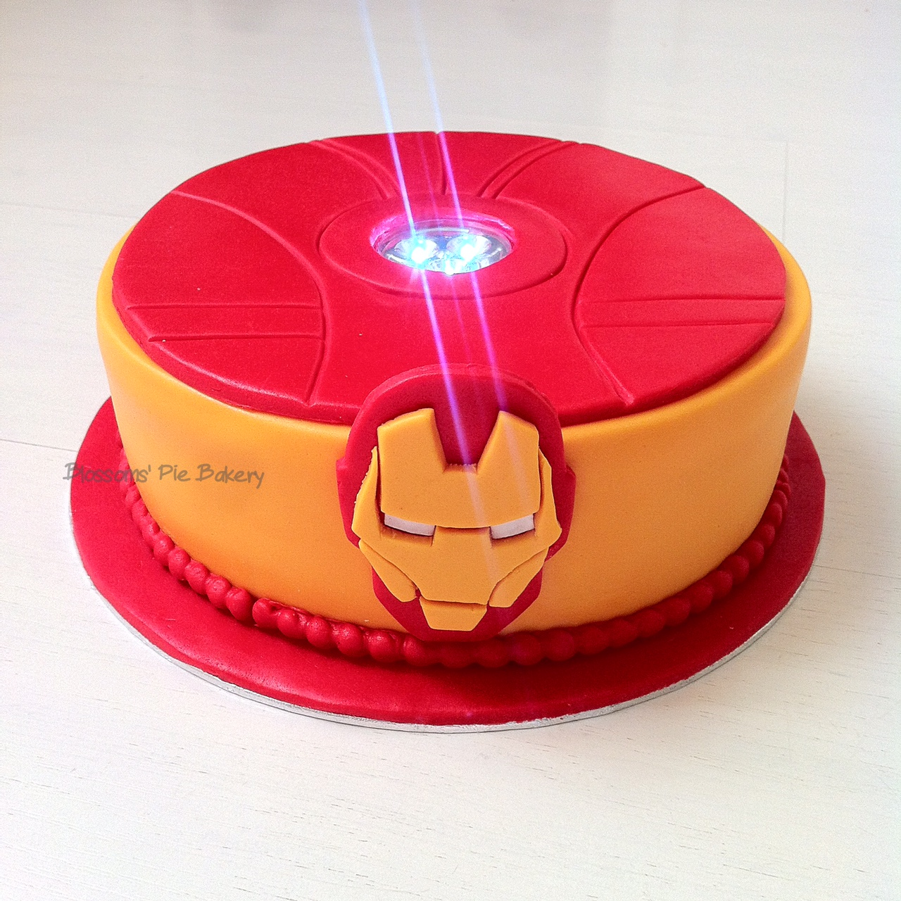 ironman arc reactor cake