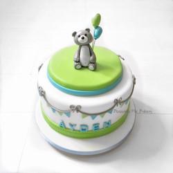 blue green cake