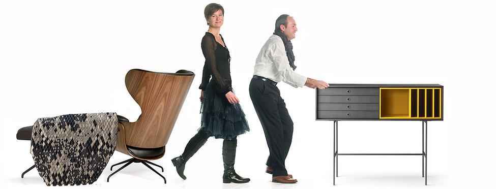 ZU meubelagentuur met Wim en Sofie Vos