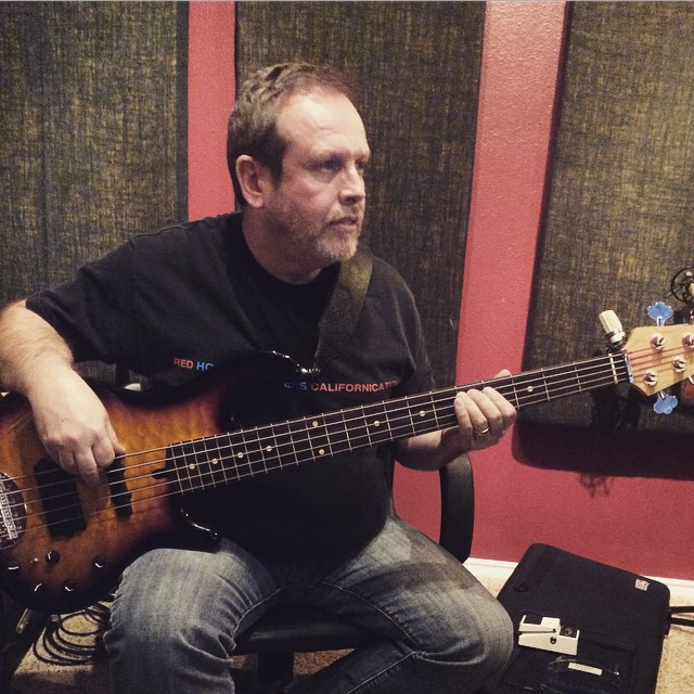 Pre-production on the new Justin Mason album #lakland #bass #preproduction #producer #apollo #uaudio