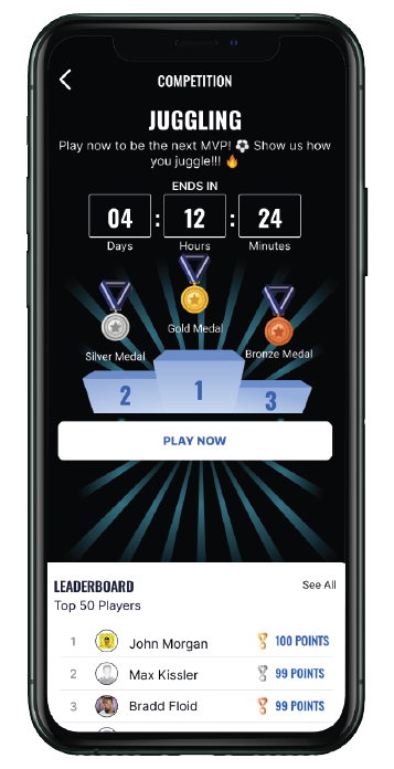 Competitions based on performance. Playform.