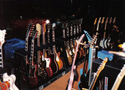 Backstage: The guitar collection with 'That Rock Guy'