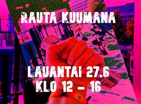 RAUTA KUUMANA - LAUANTAIBILEET RAUTARANTA OUTDOOR GYMILLÄ 27.6 KLO 12-16