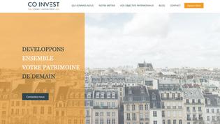 CO INVEST - site vitrine Gestionnaire de Patrimoine