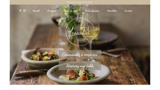 L'ESSENTIEL Site vitrine Restaurant