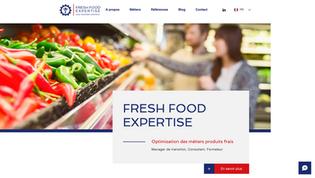 FRESH FOOD EXPERTISE Site vitrine Consultant Agro alimentaire