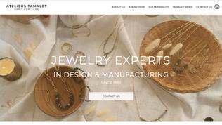 LES ATELIERS TAMALET Site vitrine Fabricant de bijoux