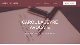Carol Lageyre Avocate Site vitrine cabinet d'avocat