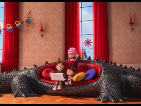 Recreating the Alligator Couch from Despicable Me with my daughter Olivia