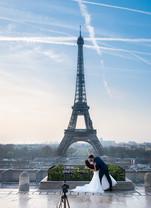 Wedding Selfie at the Eiffel Tower