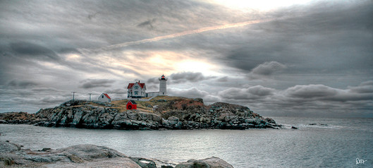 Nubble Lighthouse on a Stormy Morning