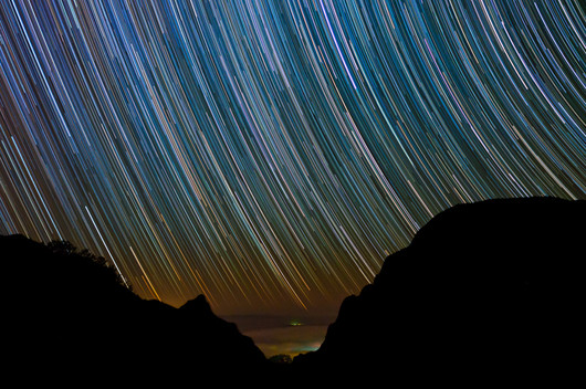Stars Setting into the Chihuahuan Dust