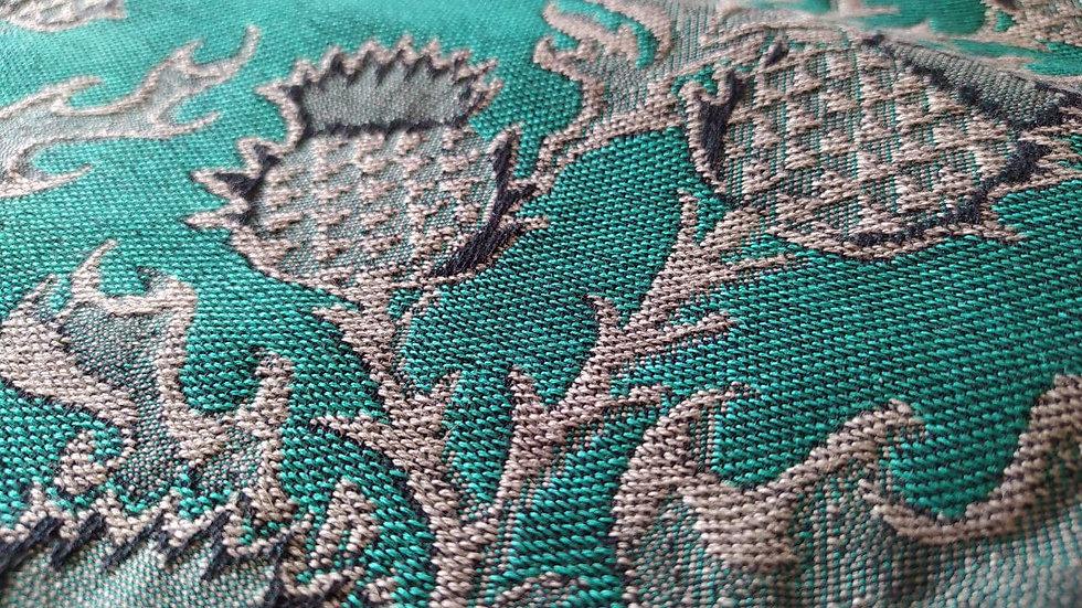 Mokosh  wrap Thistle Silver and Emerald