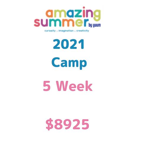 Pago de 5 semanas de Amazing Summer Camp 2021