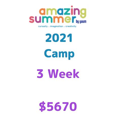Pago de 3 semanas de Amazing Summer Camp 2021