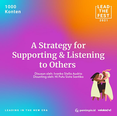 A Strategy for Supporting and Listening to Others