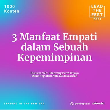 3 Manfaat Empati dalam Sebuah Kepemimpinan