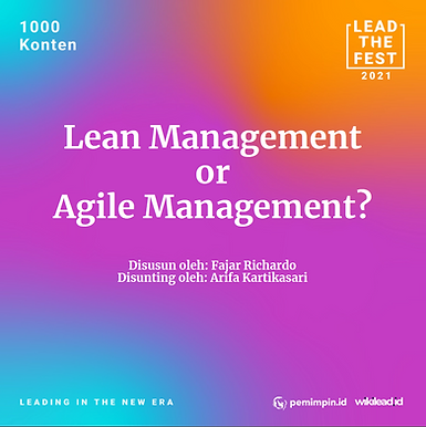 Lean management or agile? The right answer may be both