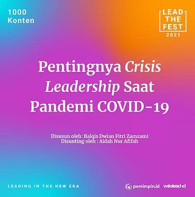 Pentingnya crisis leadership selama pandemi