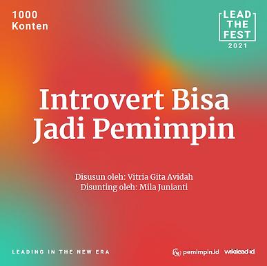 Introvert bisa Jadi Pemimpin