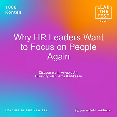 'Back to human': Why HR leaders want to focus on people again
