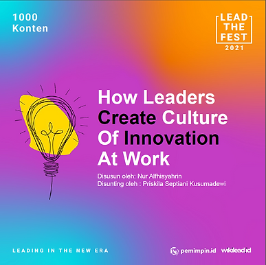 How Leaders Create Culture of Innovation at Work