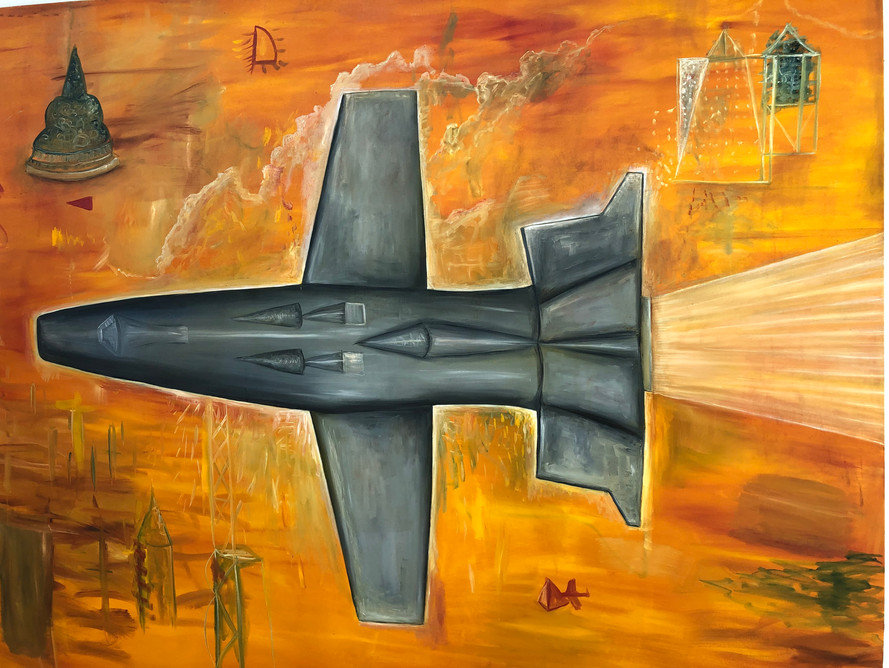 Jet 183 x 213cm Oil on Canvas 2006