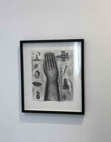 Hand 66 x 57cm Charcoal and pastel on paper 1991