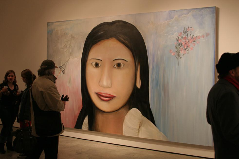 Sakura in situ at Robert Steele Gallery New York