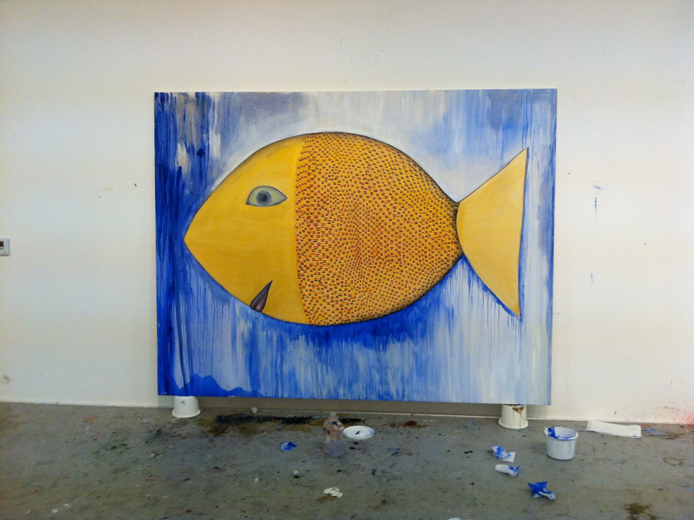 Hot Fish  213cm x 275 cm oil on Canvas 2012