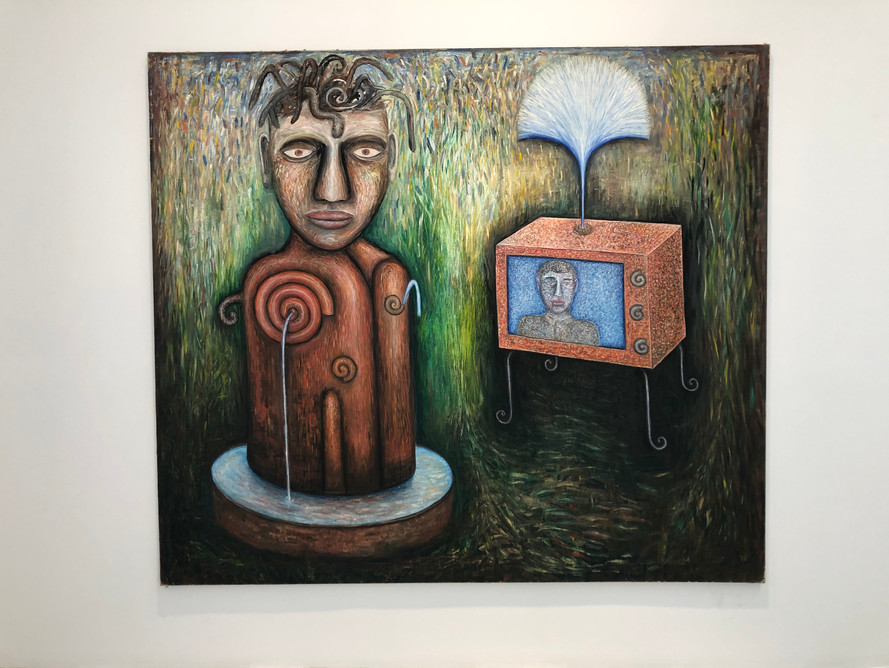 Television Fountain 213 x 244cm Oil on Canvas 1985